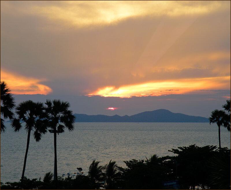 Пальмы и небо