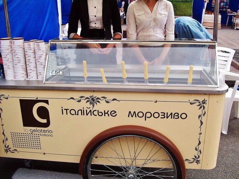Итальянское мороженое на Крещатике