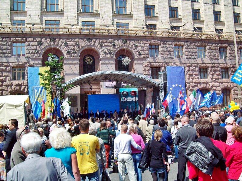 Церемония открытия Дня Европы 2012 в Киеве