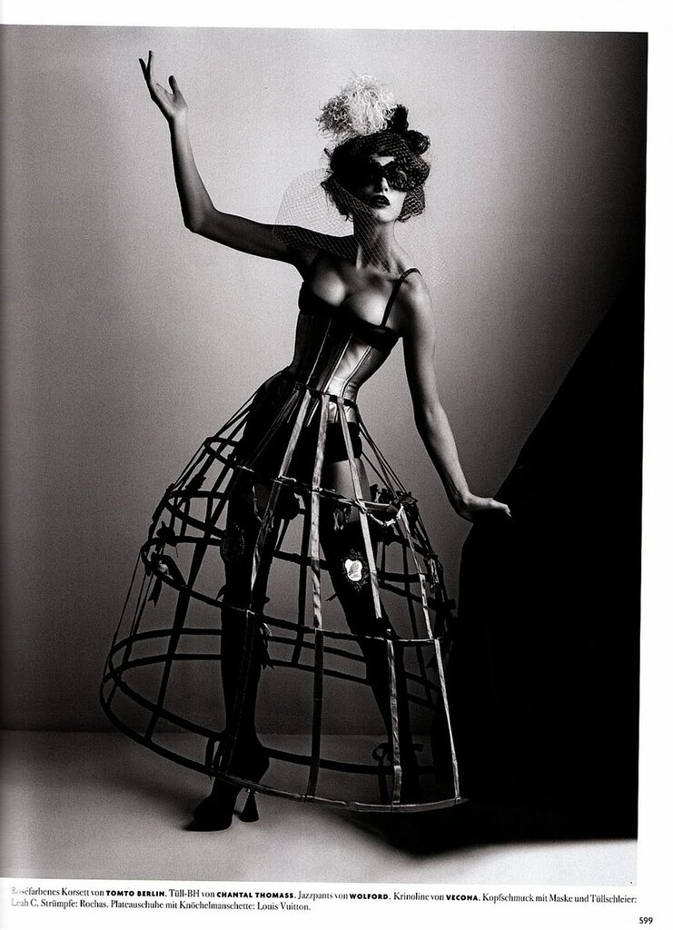 Vogue Germany Anita Berber. Photography Karl Lagerfeld