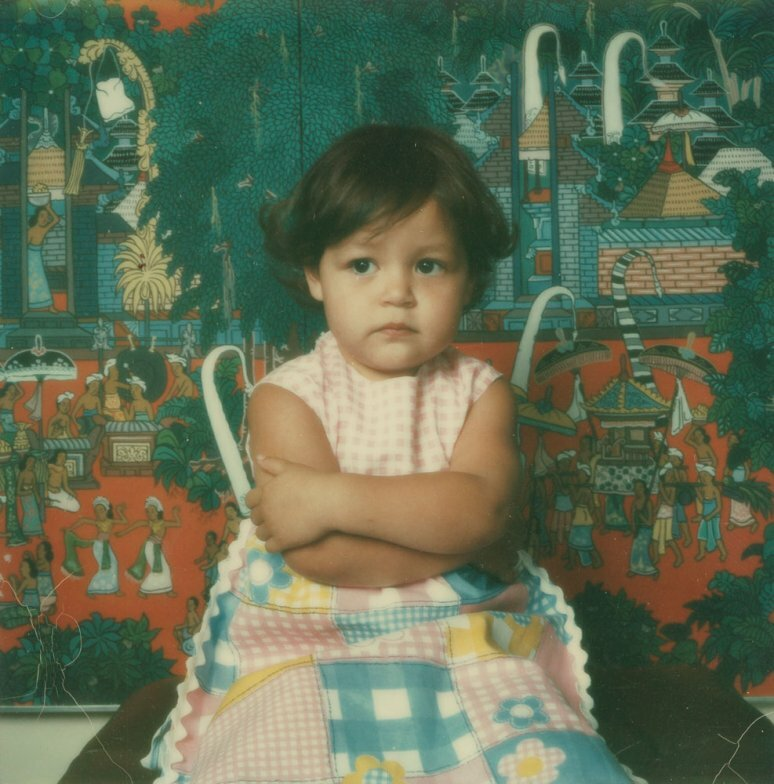 Portrait of a child, Polaroid SX-70,1972