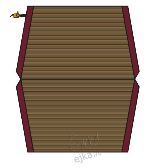 Объемный домик - распечатай и склей - поделка из бумаги для детей .  Размер: 572=506.
