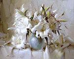 Натюрморт с белыми лилиями