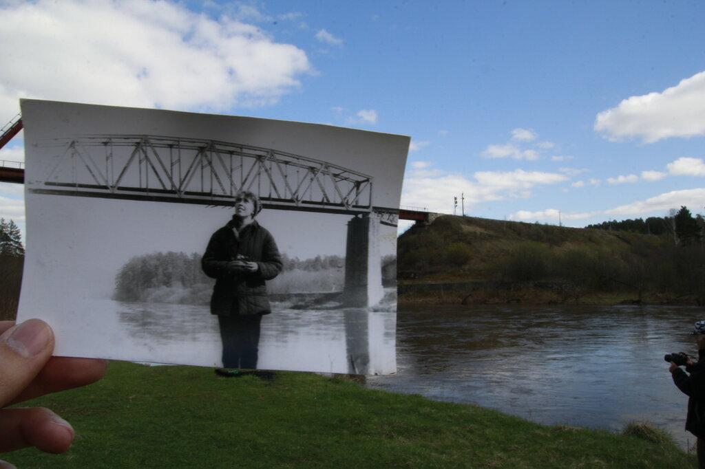 сравнение старого и нового фото жд моста от реки