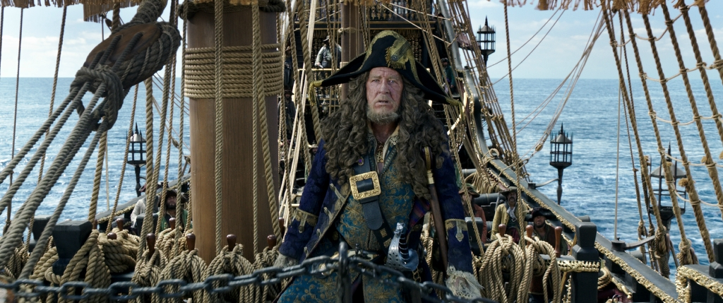 """PIRATES OF THE CARIBBEAN: DEAD MEN TELL NO TALES""The villainous Captain Salazar (Javier Bardem) pursues Jack Sparrow (Johnny Depp) as he searches for the trident used by PoseidonPh: Film Frame©Disney Enterprises, Inc. All Rights Reserved."