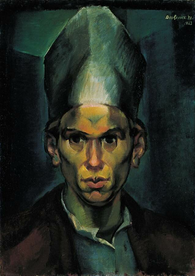 Self-Portrait with a Bishop's Hat, 1923,
