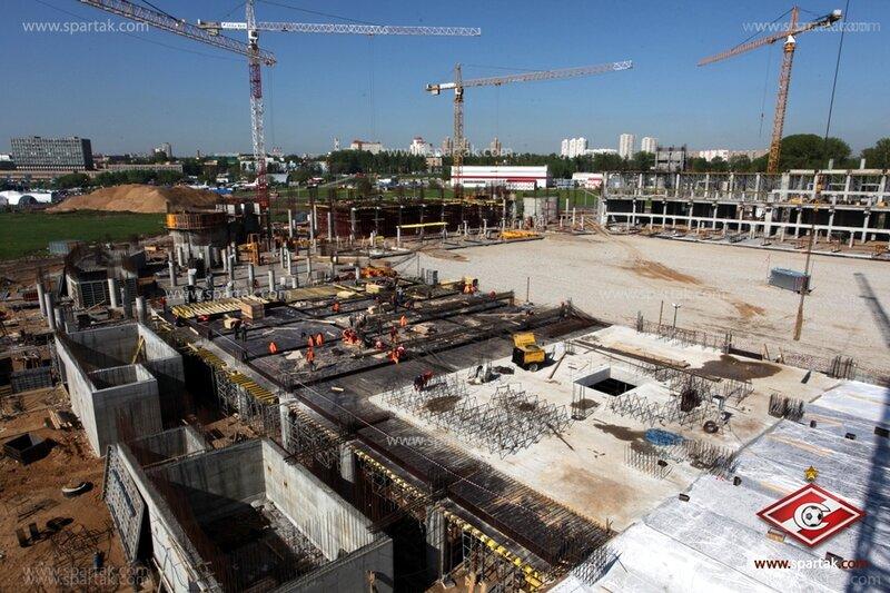 Строительство стадиона «Спартак» май 2012 (Фото)