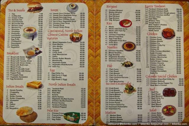 Как сделать меню еды