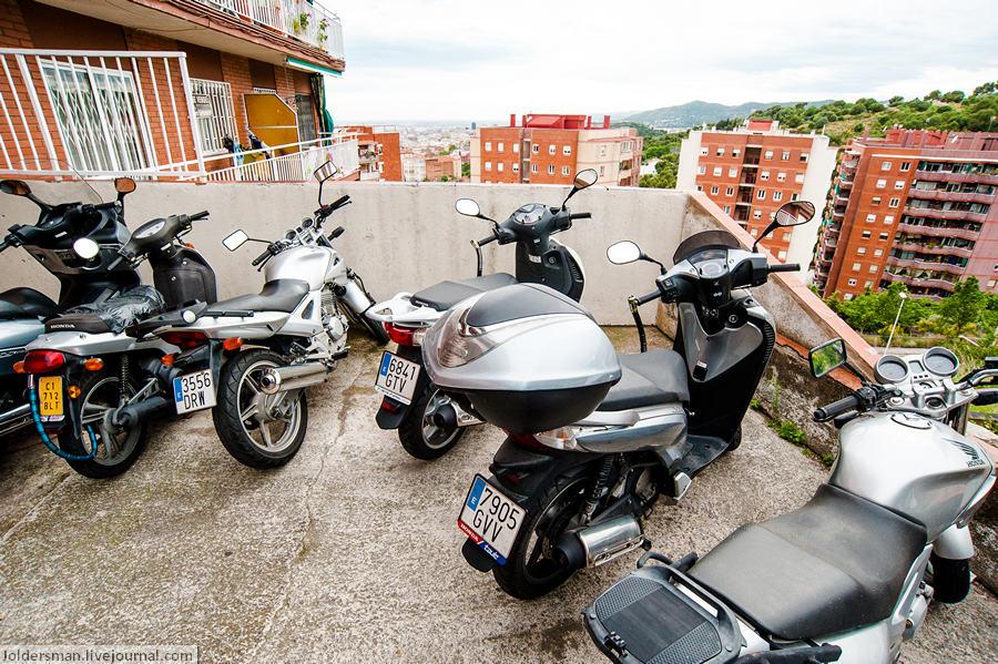 Транспорт в Барселоне - скутера