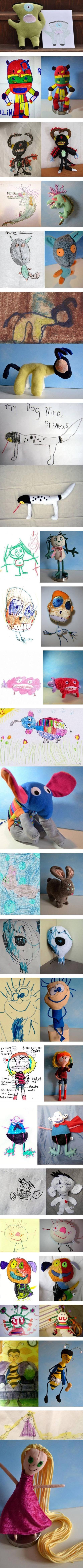 Если делать игрушки по детским рисункам
