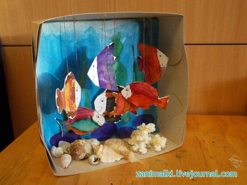 Как сделать аквариум с рыбами 967