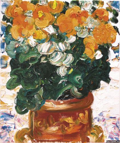 Картина Бегония оранжевая Екатерина Лебедева художница