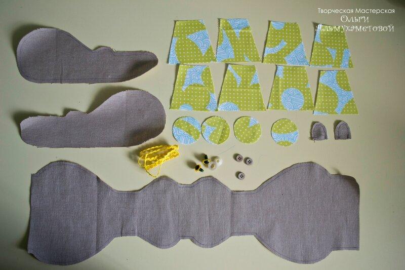 Бегемот , бегемот, игрушка, игрушка ручной работы, мастер-класс, шитье, детям