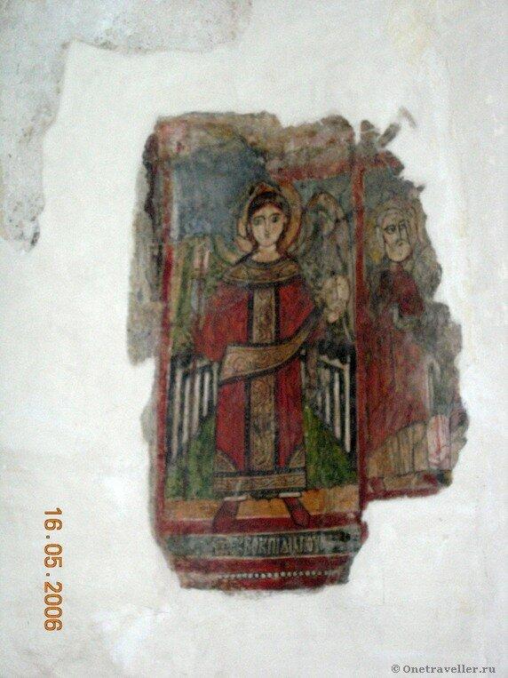 Фреска в алтаре правого придела коптского храма Эль-Муаллака