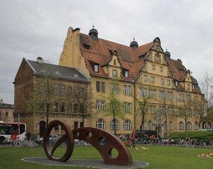 Бамберг. Маркусплац. Университет Отто-Фридриха. Otto-Friedrich-Universität Bamberg, Markusplatz. Bamberg