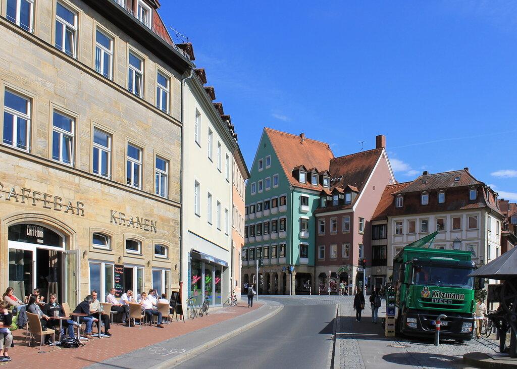 Bamberg. Am Kranen pier