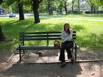 Olka in a Lodz park