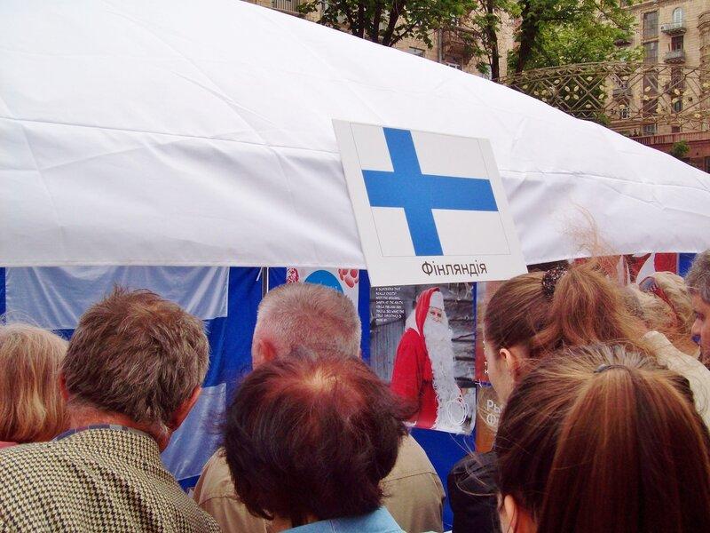 Палатка Финляндии на Дне Европы 2012
