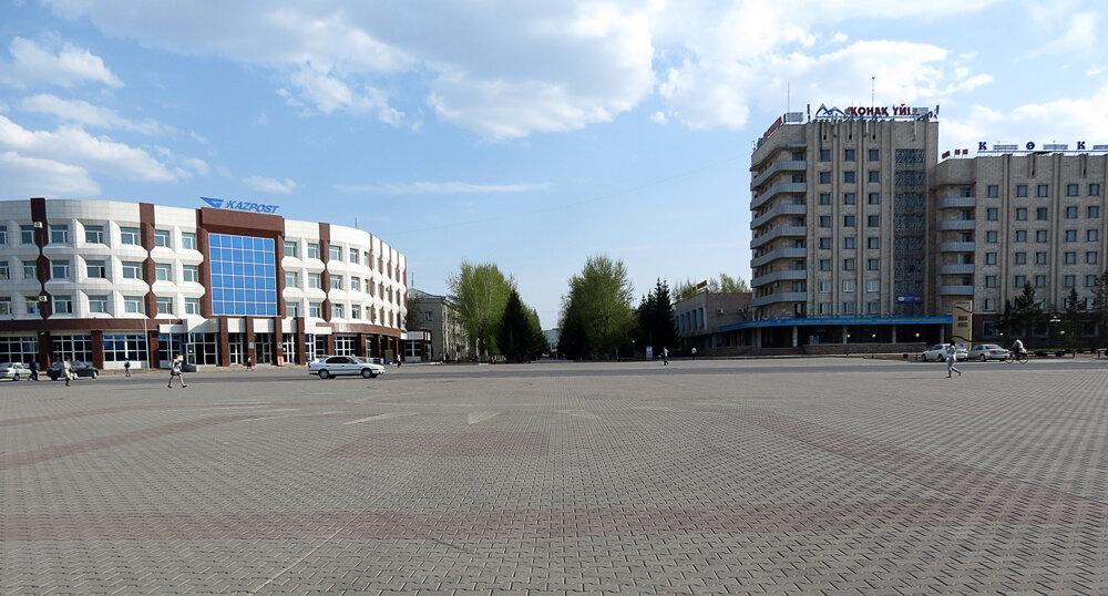 Площадь Абылай-хана, почтамт, гостиница Кокшетау - 2012. Комментарии к фото - Кокшетау Онлайн
