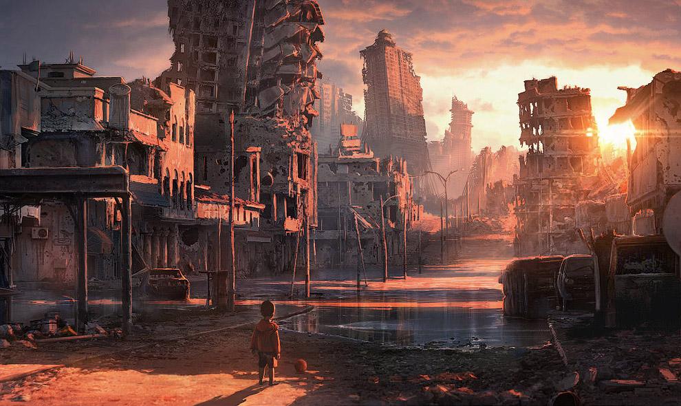 Рисунки на тему постапокалипсиса