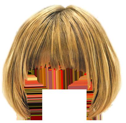 Прическа с челкой фотошоп