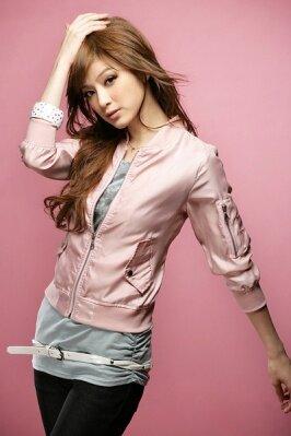 оптом Короткое пальто розового цвета.