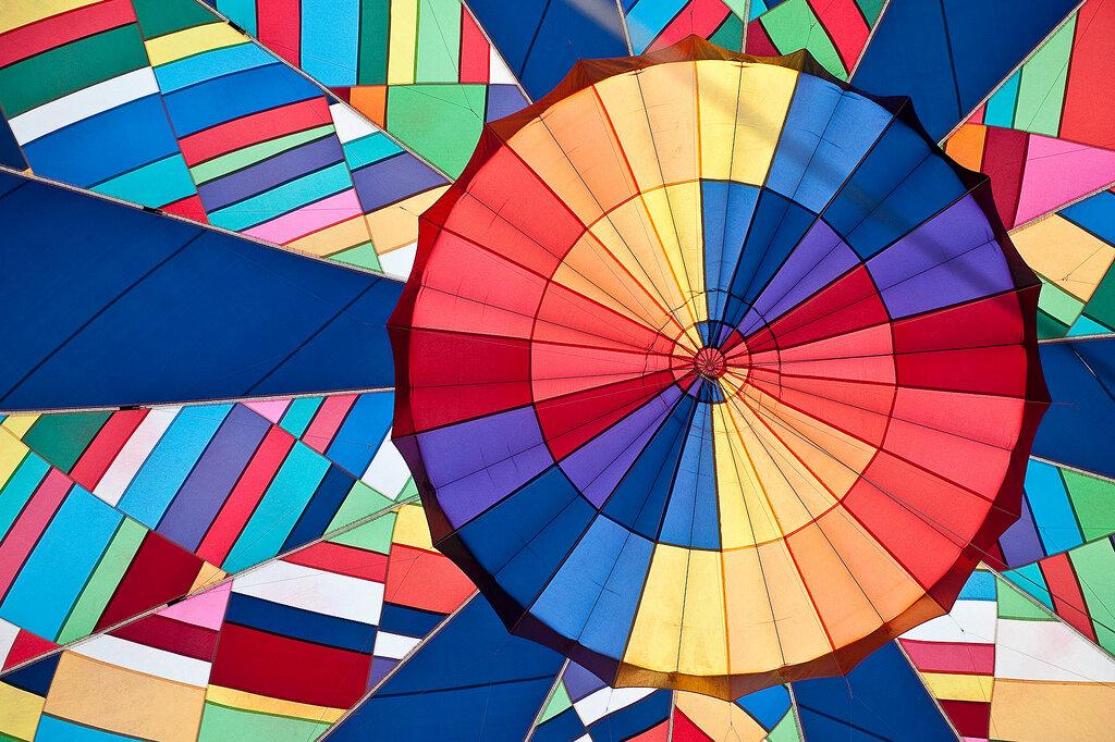 inside hot air balloon Brian Dewey