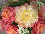 Букет Майский с пионами, розами и сиренью (Ручная работа)