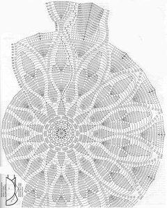 Платье из салфеток крючком схема