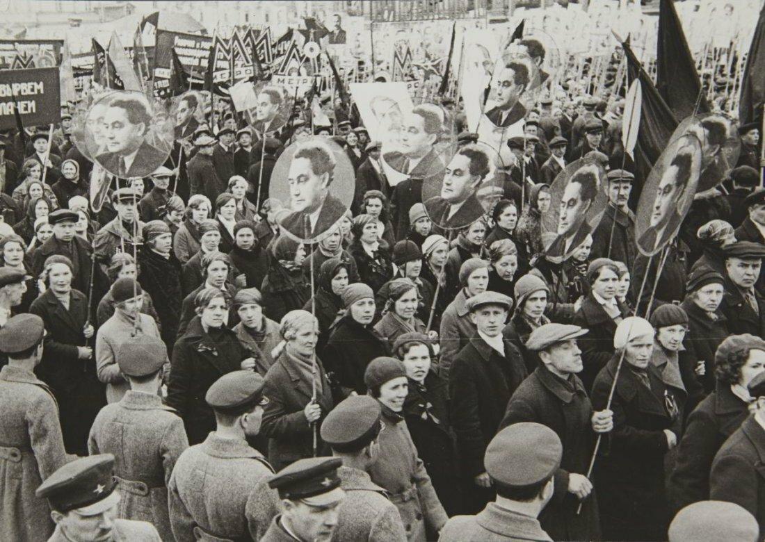 1935. Протест на Красной площади, с требованиями освобождения Г. Димитрова, Москва
