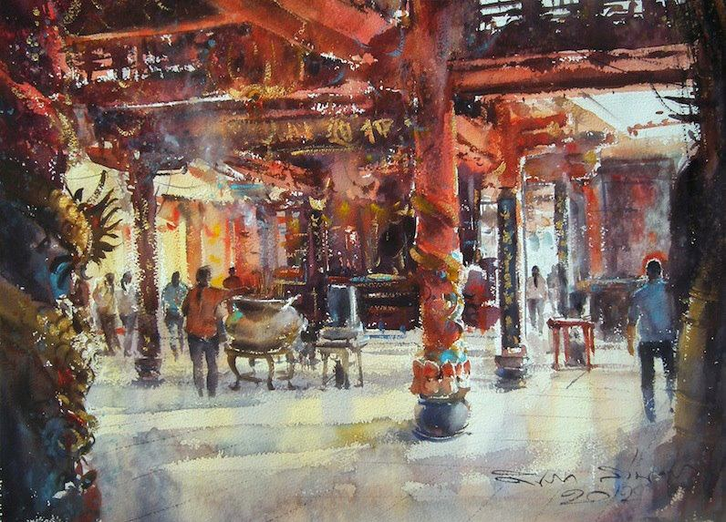 Direk Kingnok - Chinese temple in Saigon. No.4