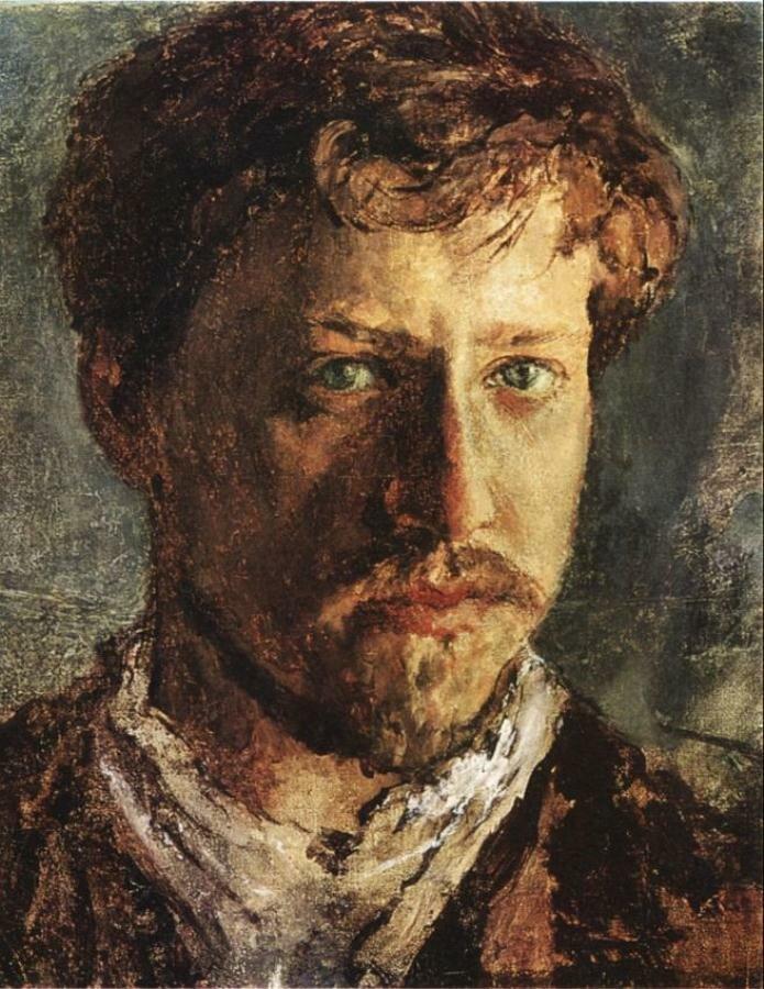 Серов, Валентин Александрович.(1865—1911)  Автопортрет.(1500)