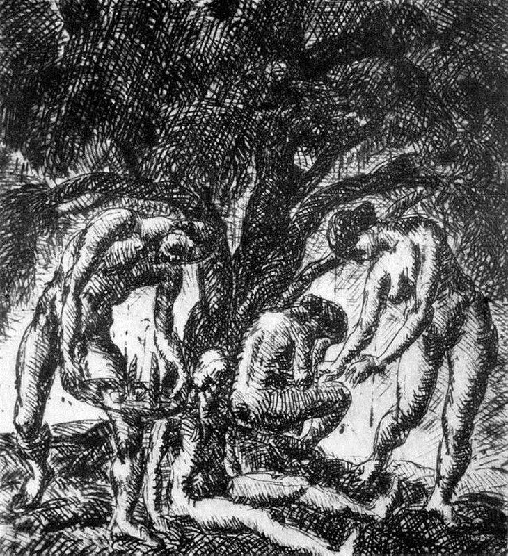 Под большим деревом, 1921_ Деркович Дьюла (1894-1834).