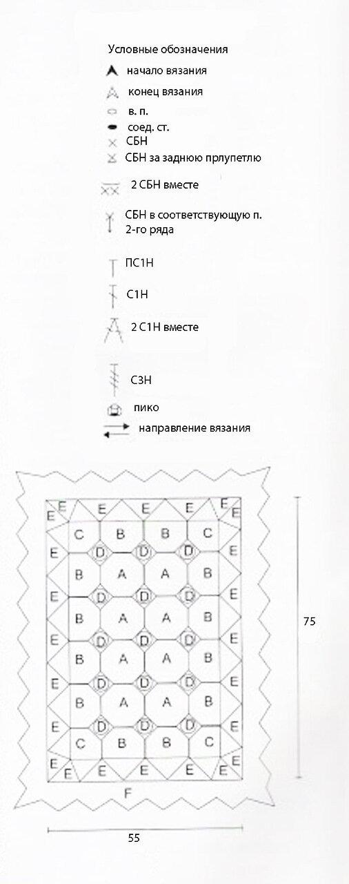 Схема вязания крючком белого