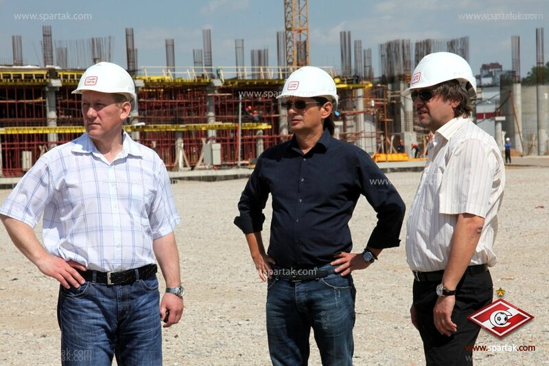 Леонид Федун посетил стадион «Спартак» (Фото)