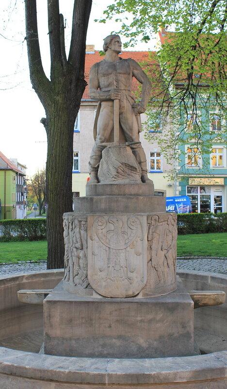 Злоторыя. Złotoryja. Памятник рудокопу.