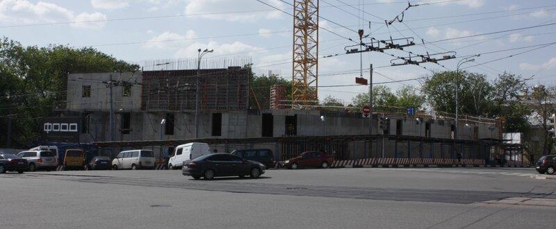 Строительство музея музыкальных инструментов. Улица Солянка.
