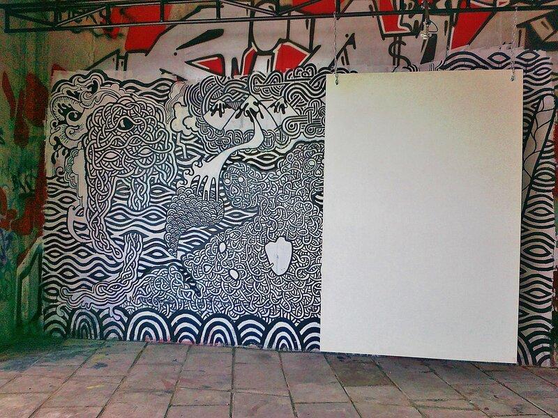 Одна из стен экспозиции под Гаванским мостом
