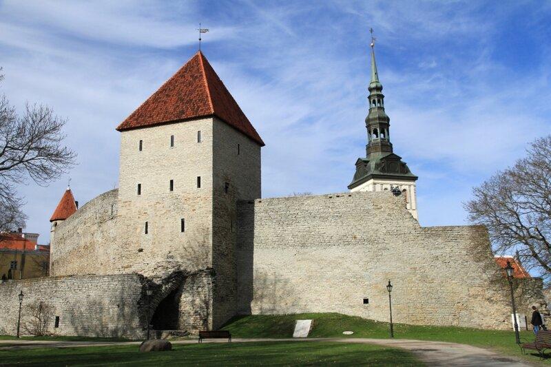 Эстония, Таллинн, Сад датского короля, Девичья башня