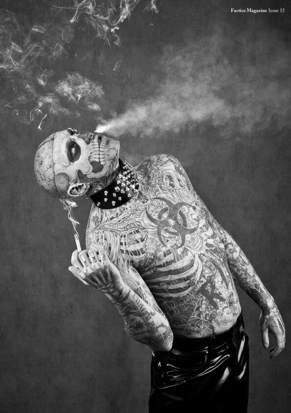 Зомби-бой на обложке Factice