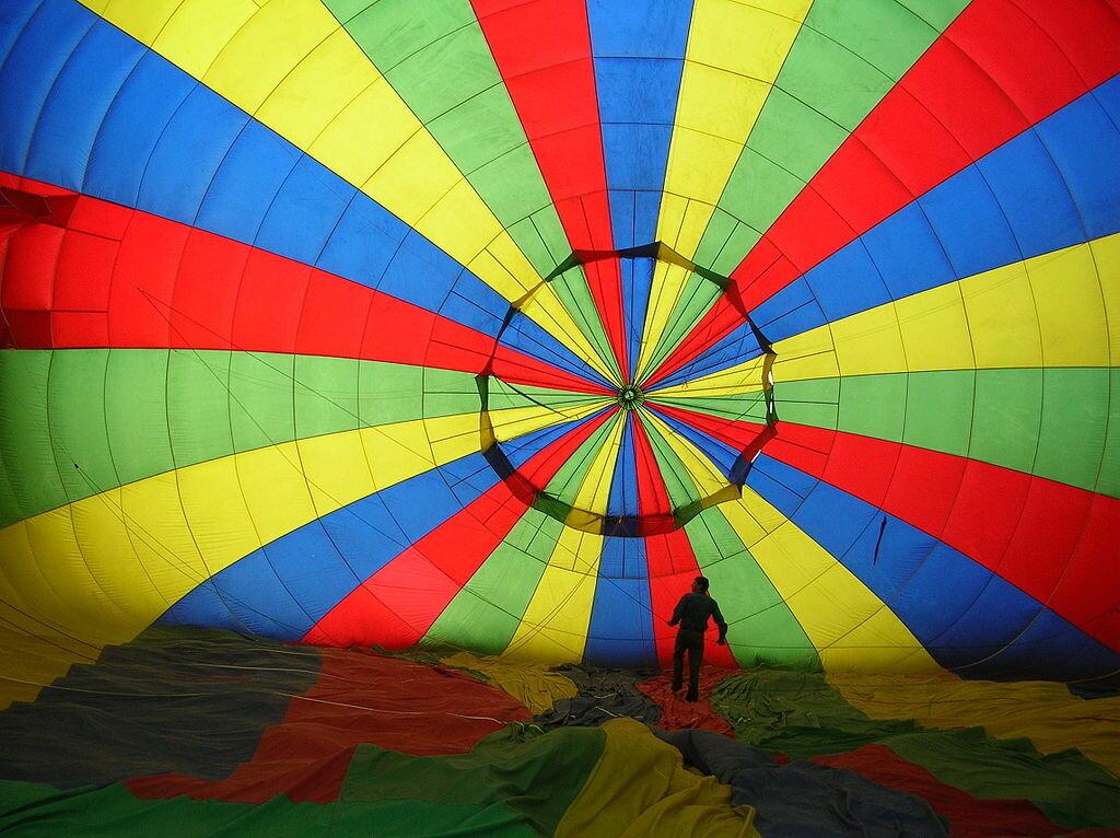 inside hot air balloon by AElfwine