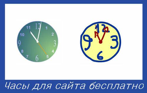 Часы для сайта