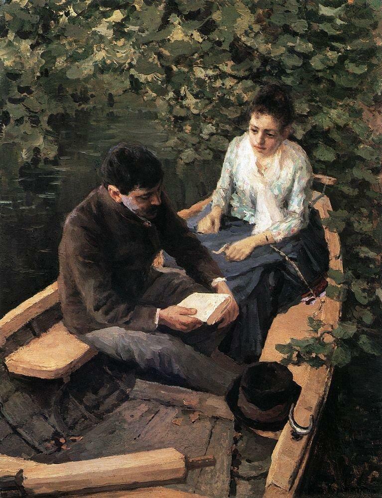 В лодке. 1888, Коровин Константин Алексеевич (1861-1939)