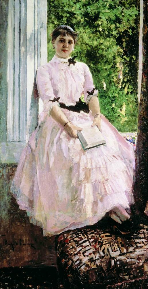 Портрет артистки Татьяны Спиридоновны Любатович. 1880, Коровин Константин Алексеевич (1861-1939).