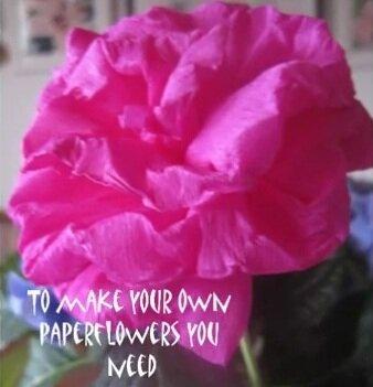 По изготовлению цветов из бумаги