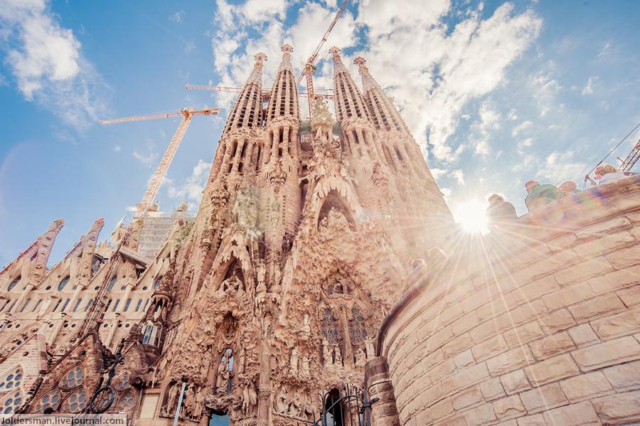 Барселона собор Гауди Саграда Фамилия
