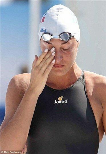 Почему плачет спортсменка?