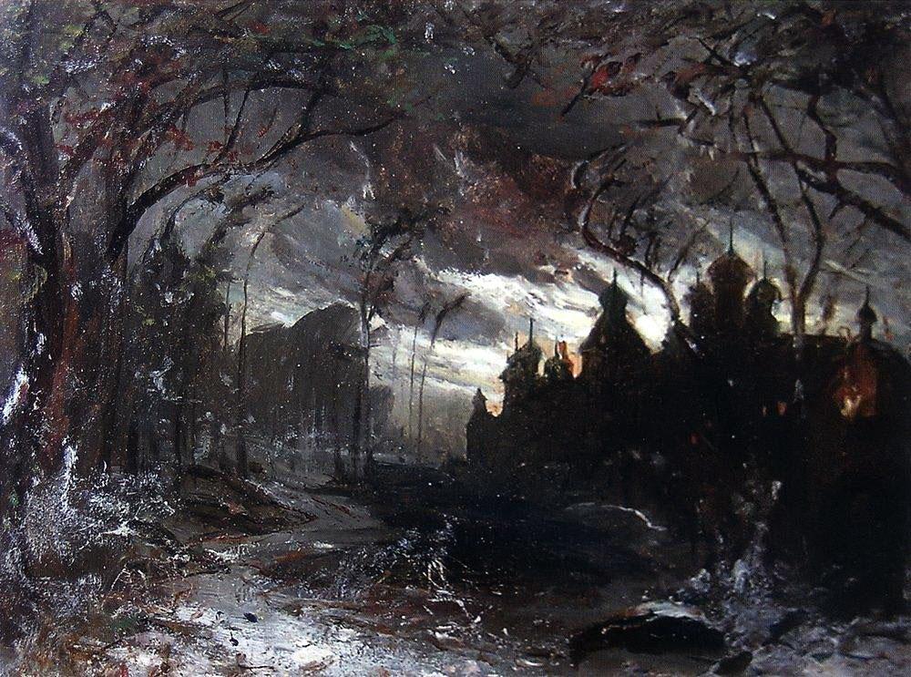 Ипатьевский монастырь в зимнюю ночь, 1870-е.jpg