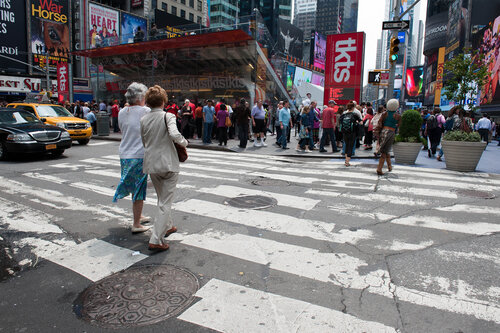 На улицах Нью-Йорка