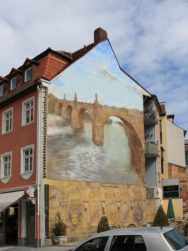 Bamberg. Steinbogenbrücke bridge